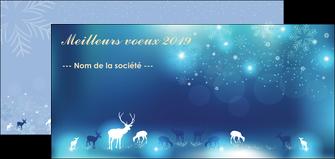 Impression Carte de voeux  Carte de voeux devis d'imprimeur publicitaire professionnel Flyer DL - Paysage (10 x 21 cm)