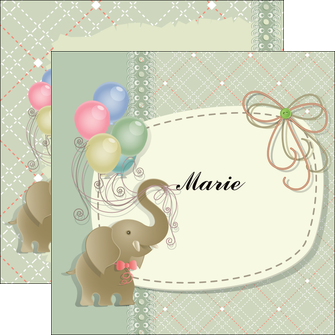 modele flyers elephant gris ballons MLIG13869