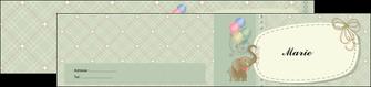 modele en ligne depliant 2 volets  4 pages  elephant gris ballons MLIG13871