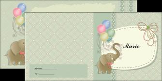 modele depliant 2 volets  4 pages  elephant gris ballons MLIG13873