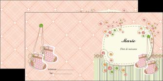modele depliant 2 volets  4 pages  faire part de naissance carte de naissance carte naissance MIF14399