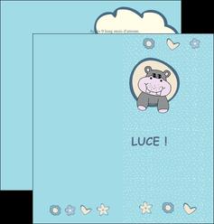 imprimer depliant 2 volets  4 pages  bonbon dessin anime MLIG14589