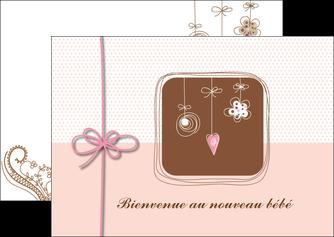 personnaliser modele de flyers invitation naissance faire part de naissance carte de naissance MLGI14747