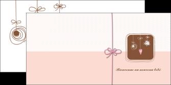 creer modele en ligne depliant 2 volets  4 pages  invitation naissance faire part de naissance carte de naissance MLGI14753