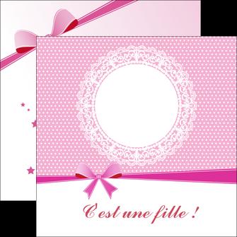 Commander Faire part  Faire Part de naissance papier publicitaire et imprimerie Flyers Carré 12 x 12 cm