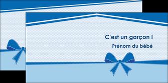 personnaliser modele de depliant 2 volets  4 pages  fille carte de naissance pour  garcon carton de naissance pour garcon MLIG14941