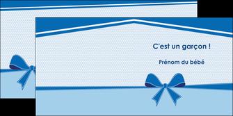 modele en ligne depliant 2 volets  4 pages  fille carte de naissance pour  garcon carton de naissance pour garcon MLIG14943