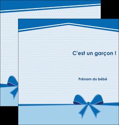 personnaliser maquette depliant 2 volets  4 pages  fille carte de naissance pour  garcon carton de naissance pour garcon MLIG14945