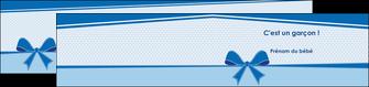 modele depliant 2 volets  4 pages  fille carte de naissance pour  garcon carton de naissance pour garcon MLIG14947