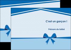 personnaliser modele de depliant 2 volets  4 pages  fille carte de naissance pour  garcon carton de naissance pour garcon MLIG14949