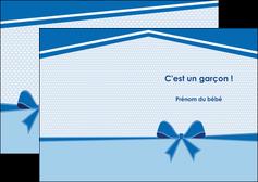 modele en ligne depliant 2 volets  4 pages  fille carte de naissance pour  garcon carton de naissance pour garcon MLIG14953