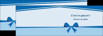 creer modele en ligne depliant 2 volets  4 pages  fille carte de naissance pour  garcon carton de naissance pour garcon MLIG14955