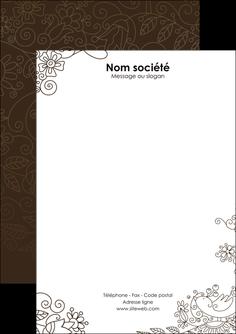 imprimerie flyers fleuriste et jardinage abstrait blanc design MLGI15127