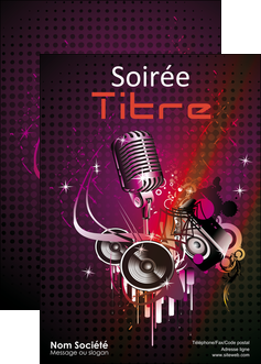 realiser affiche discotheque et night club abstract adore advertise MLIG15461