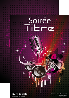 creation graphique en ligne affiche discotheque et night club abstract adore advertise MLIG15467