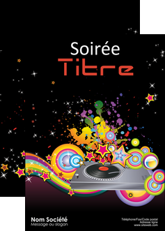 exemple affiche discotheque et night club abstract adore advertise MIF15675