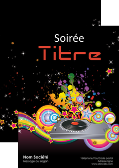 imprimerie flyers discotheque et night club abstract adore advertise MIF15677