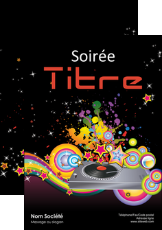 faire modele a imprimer affiche discotheque et night club abstract adore advertise MIF15679
