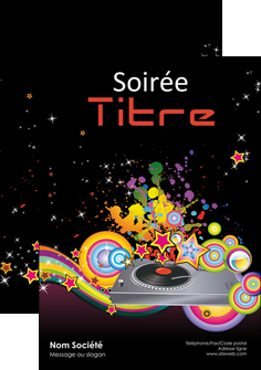 creation graphique en ligne flyers discotheque et night club abstract adore advertise MIF15681