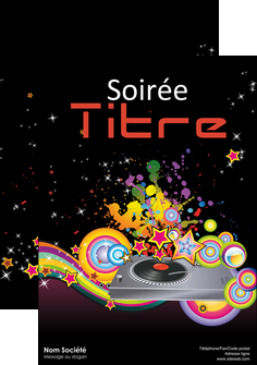 exemple affiche discotheque et night club abstract adore advertise MIF15683