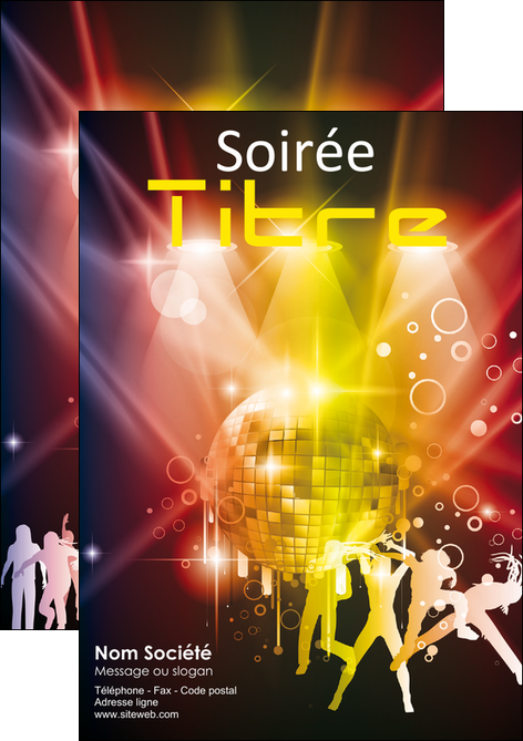 impression flyers discotheque et night club soiree bal boite MLIG15937