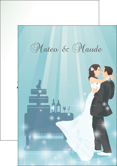 impression flyers mariage marier marie MIS16649