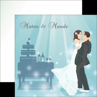personnaliser maquette flyers mariage marier marie MIS16651