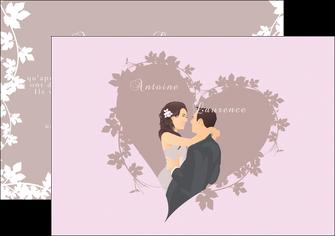 imprimer flyers mariage carte mariage carte  de mariage MIS17677