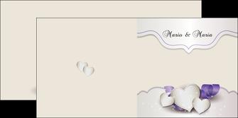 imprimerie depliant 2 volets  4 pages  mariage faire part mariage faire part de mariage MIS17833
