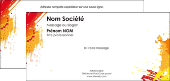 imprimerie carte de correspondance banniere brillant brun MLIG18109