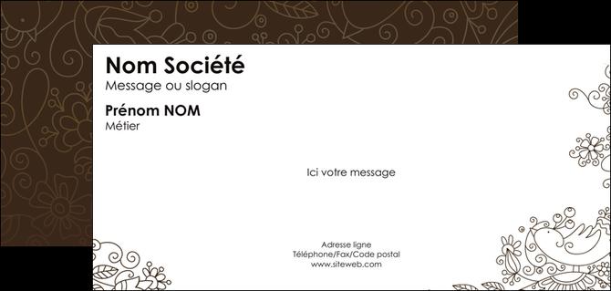 realiser carte de correspondance fleuriste et jardinage abstrait blanc design MLGI18123