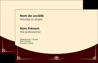 Exemple Carte De Visite Restaurant Restauration Carterestaurant MLGI18305