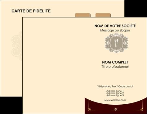 Personnaliser Modele De Carte Visite Restaurant Restauration Carterestaurant MLGI18309
