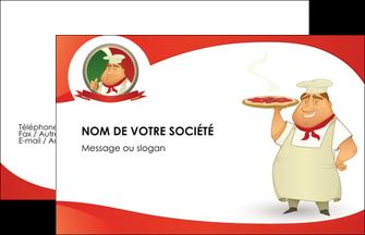 maquette en ligne a personnaliser carte de visite pizzeria et restaurant italien pizza pizzeria restaurant pizza MLGI18753