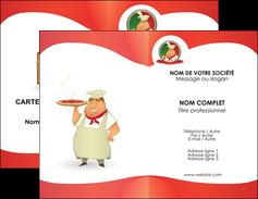 imprimerie carte de visite pizzeria et restaurant italien pizza pizzeria restaurant pizza MLGI18757