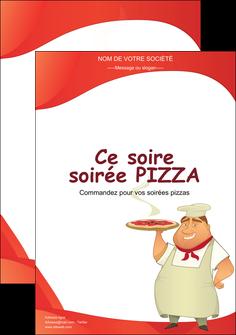 maquette en ligne a personnaliser affiche pizzeria et restaurant italien pizza pizzeria restaurant pizza MLGI18767