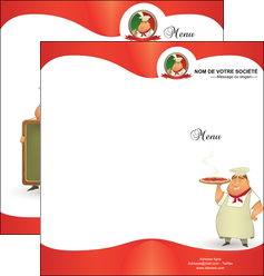 creation graphique en ligne depliant 2 volets  4 pages  pizzeria et restaurant italien pizza pizzeria restaurant pizza MLGI18771