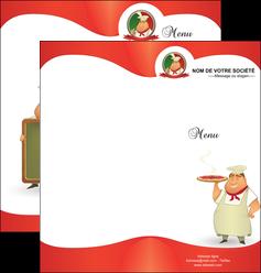 creation graphique en ligne depliant 2 volets  4 pages  pizzeria et restaurant italien pizza pizzeria restaurant pizza MLGI18771