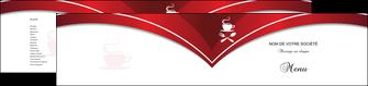 personnaliser modele de depliant 2 volets  4 pages  bar et cafe et pub cafe cafeteria tasse de cafe MLGI18773