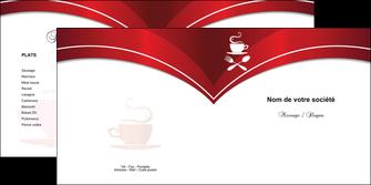 creation graphique en ligne depliant 2 volets  4 pages  bar et cafe et pub cafe cafeteria tasse de cafe MLGI18783