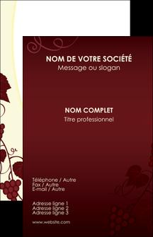 Realiser Carte De Visite Vin Commerce Et Producteur Vigne Vignoble MLGI18803