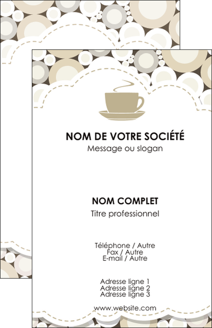 Imprimerie Carte De Visite Bar Et Cafe Pub Salon The Buvette Brasserie MLGI18849