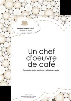 imprimer flyers bar et cafe et pub salon de the buvette brasserie MLGI18857