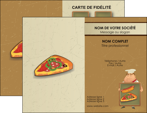 Personnaliser Modele De Carte Visite Sandwicherie Et Fast Food Pizza Portions Plateau