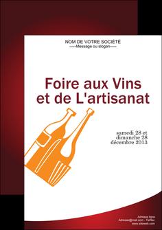 personnaliser maquette affiche vin commerce et producteur magasin de vin cave a vin producteur de vin MLIG18999