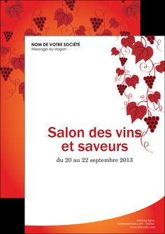 faire modele a imprimer flyers vin commerce et producteur raisins grappe de raisins culture de raisins MLIG19025