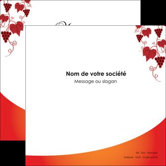 personnaliser modele de flyers vin commerce et producteur raisins grappe de raisins culture de raisins MLIG19031