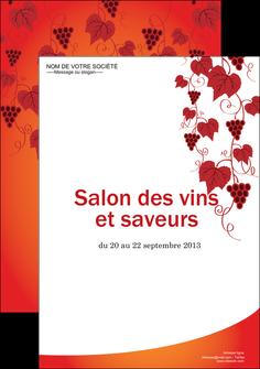 personnaliser maquette affiche vin commerce et producteur raisins grappe de raisins culture de raisins MLGI19039