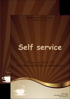 personnaliser maquette affiche bar et cafe et pub cafe tasse de cafe bistro MLGI19093