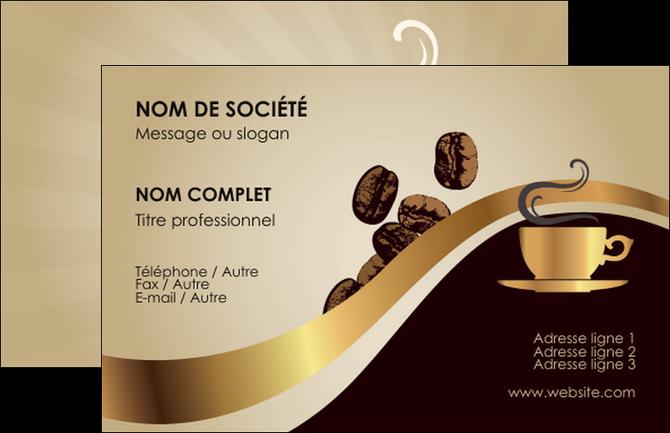 Carte De Visite Modele Et Exemple Cafe Tasse Bistro